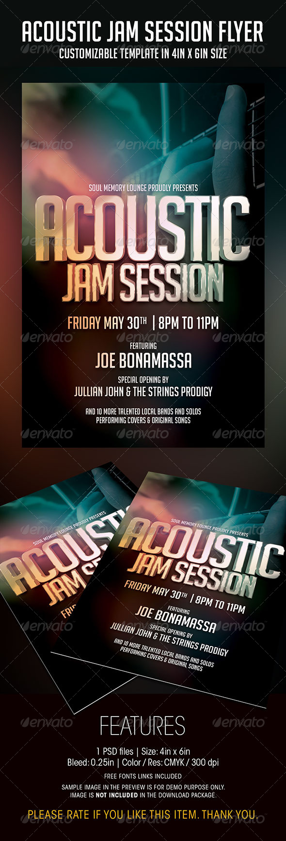 GraphicRiver Acoustic Jam Session Flyer 6895582