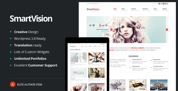 SmartVision - Premium Corporate&Portfolio WP Theme