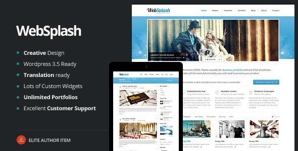 Web Splash - Premium WordPress Theme - Business Corporate