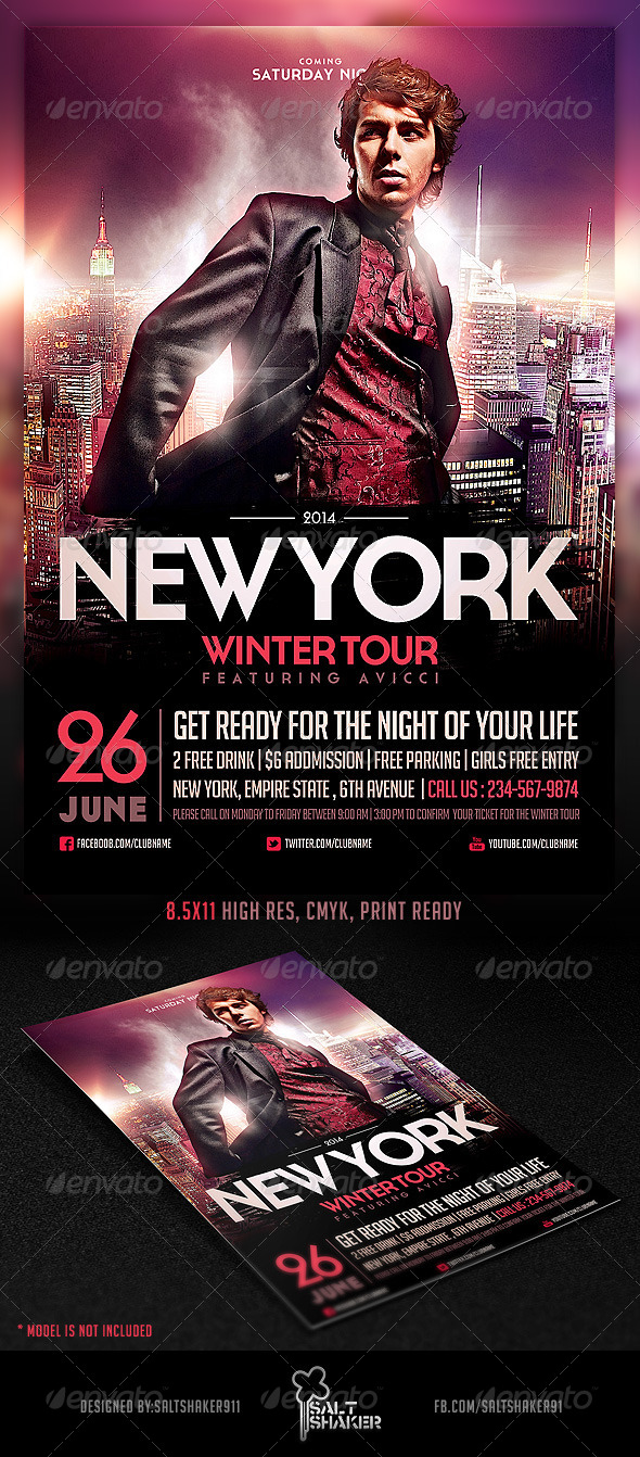 GraphicRiver NYC Electro House Dj Flyer Template 6895860