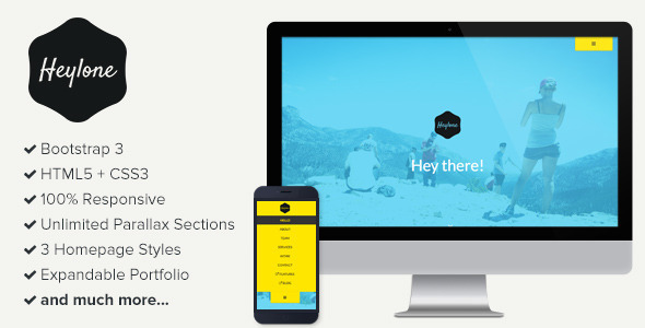 ThemeForest Heylone Responsive One Page Parallax Template 6895923