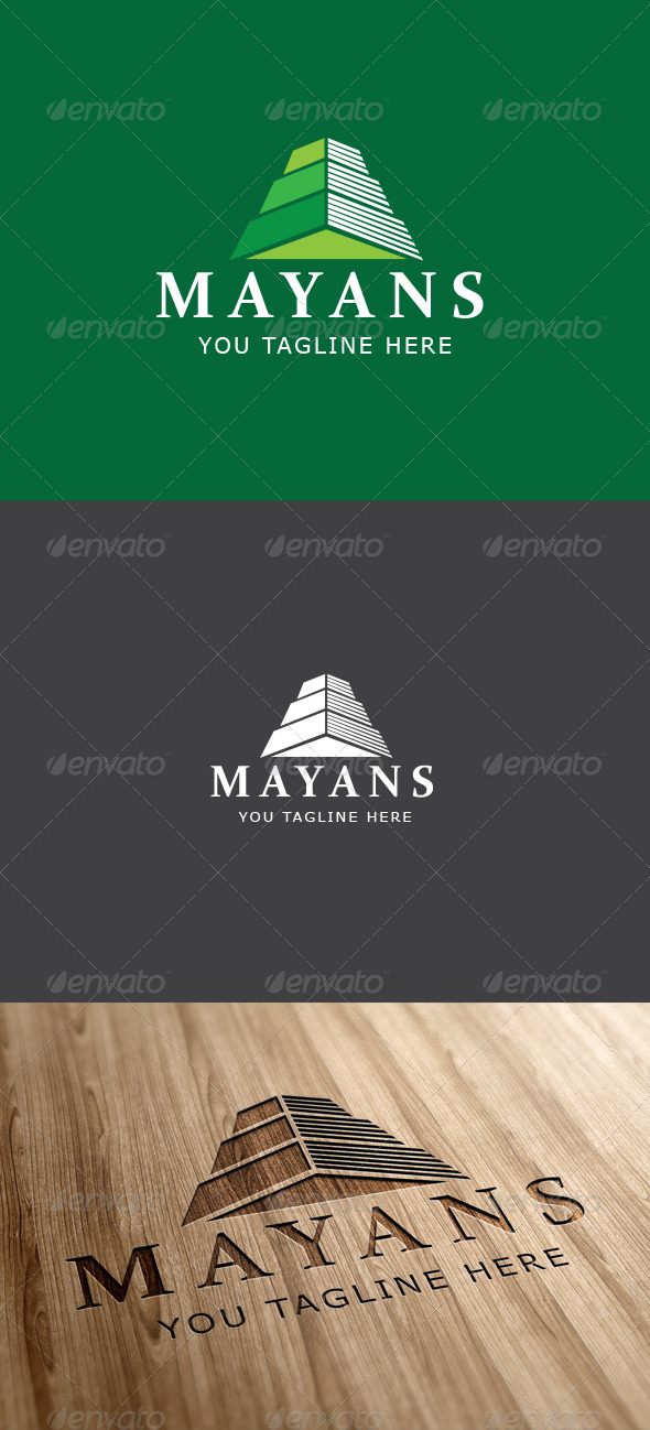 Mayan Ruin Logo Template - Vector Abstract