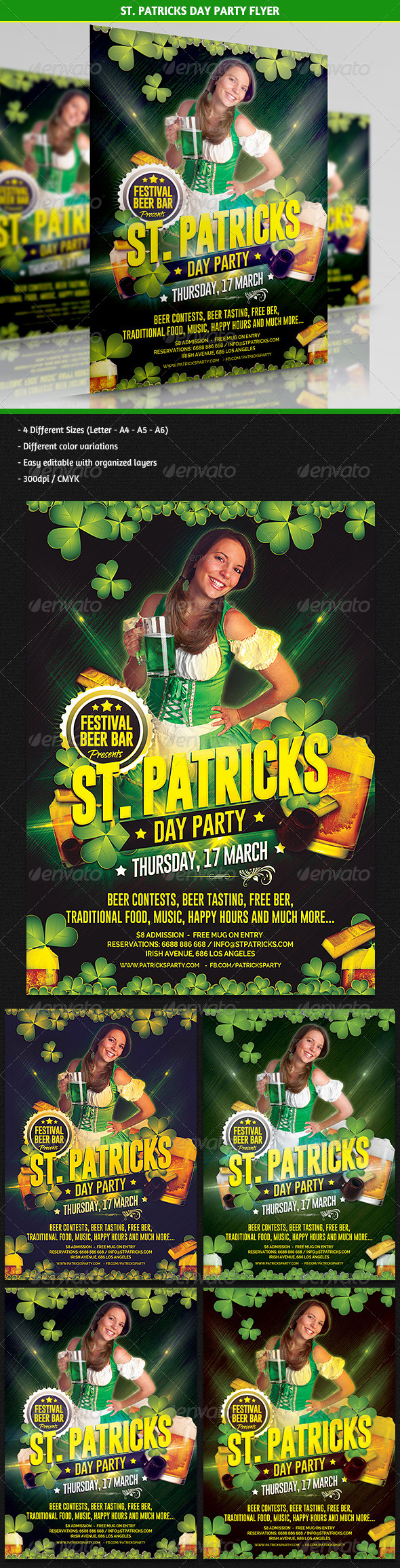GraphicRiver St Patricks Day Party Flyer 6896944
