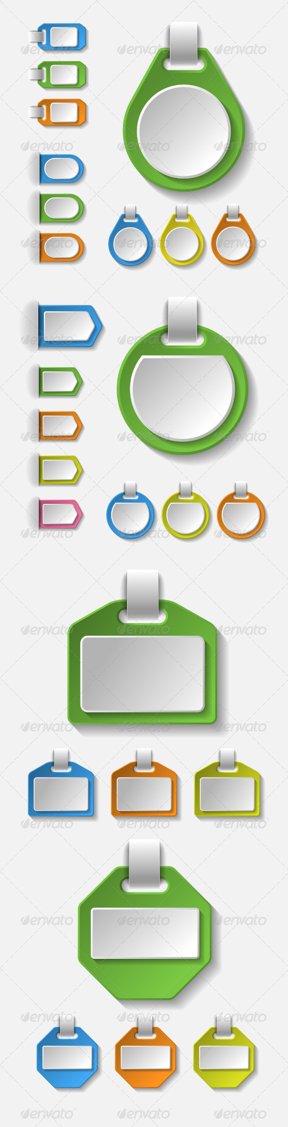 GraphicRiver Set of Colorful Blank Badges Tags and Banners 6897093