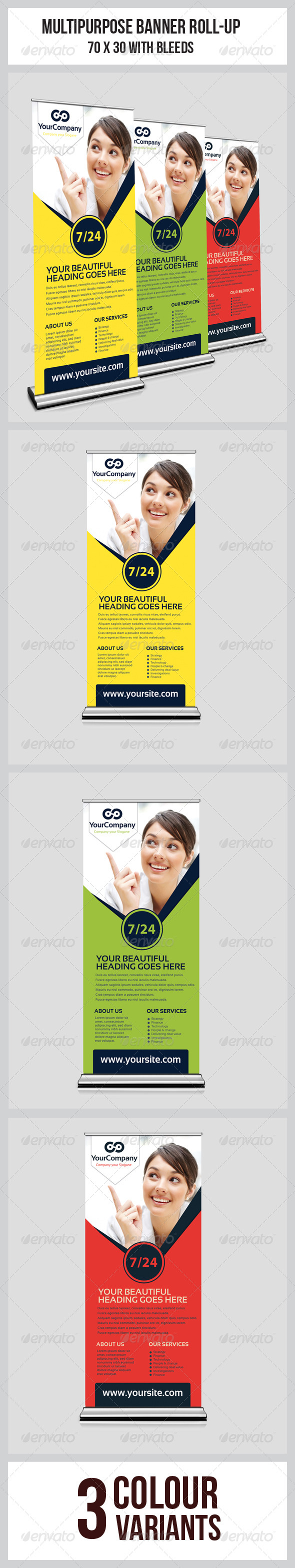 GraphicRiver Multipurpose Business Roll-Up 6897103