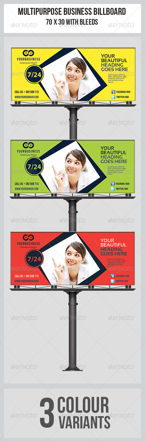 GraphicRiver Multipurpose Business Billboard Template 6897148