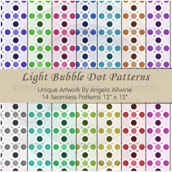 GraphicRiver Light Bubble Dots Pattern Set 6897185