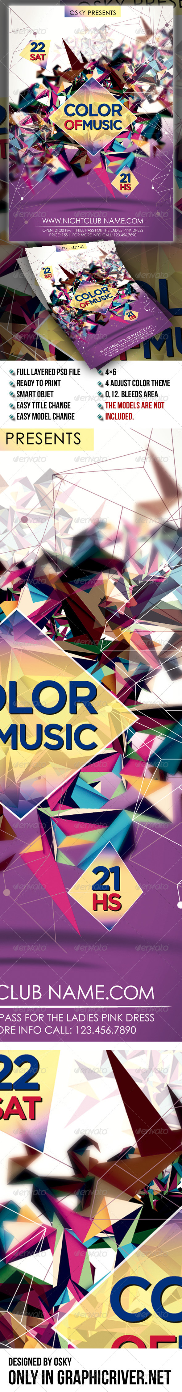GraphicRiver Color Of Music 6898137
