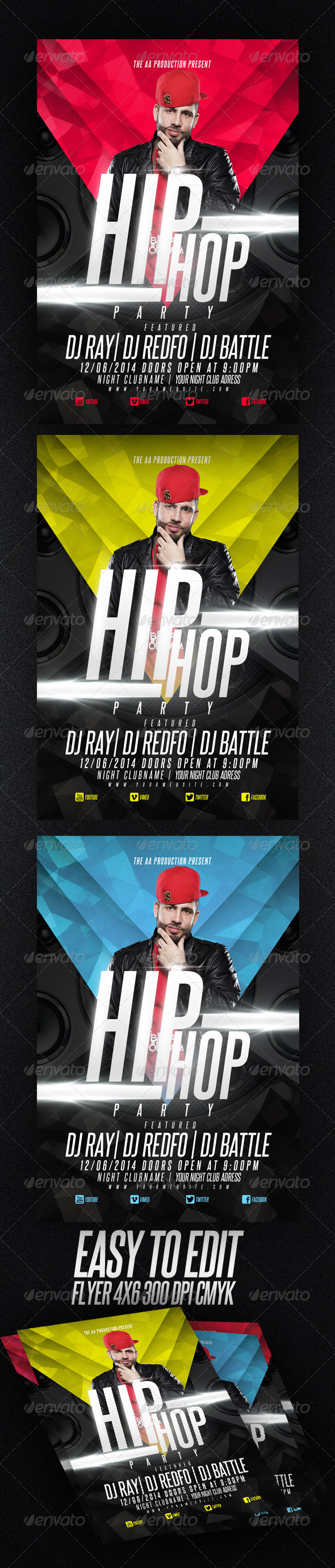 GraphicRiver Hip Hop party 6898304