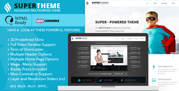 Super | Flat Responsive All Purpose Theme