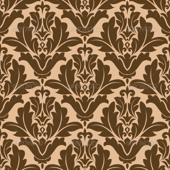 GraphicRiver Floral Damask-Style Pattern 6898664