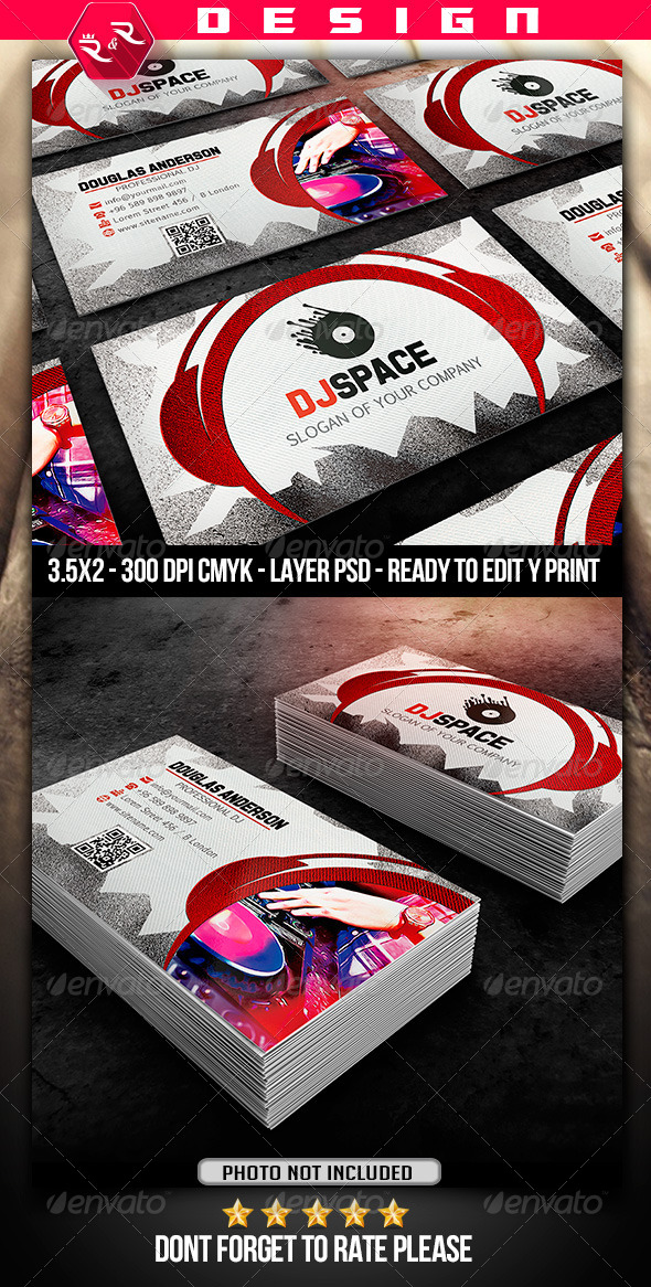 GraphicRiver DJ Business Card Template 6898797