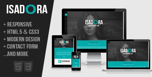 Isadora:Responsive Resume Portfolio One Page Theme