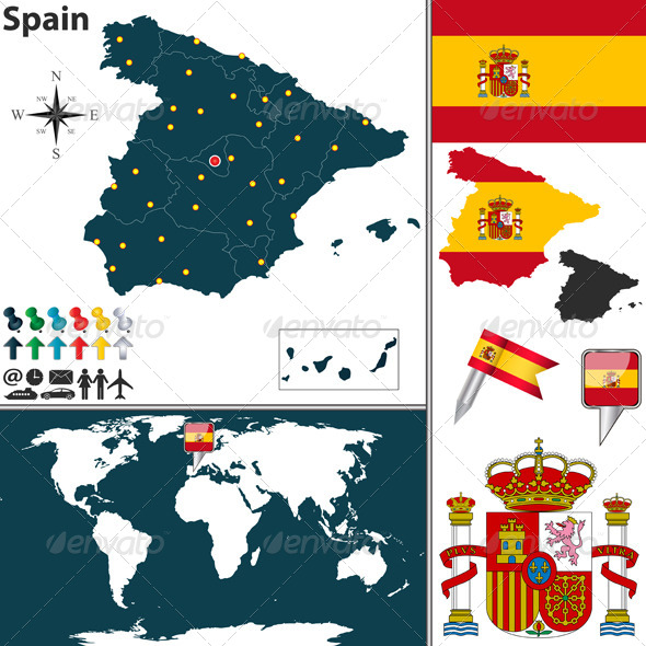 GraphicRiver Map of Spain 6899140