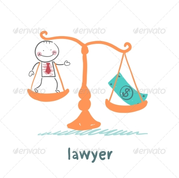 GraphicRiver Lawyer is in the Balance with the Money 6899226