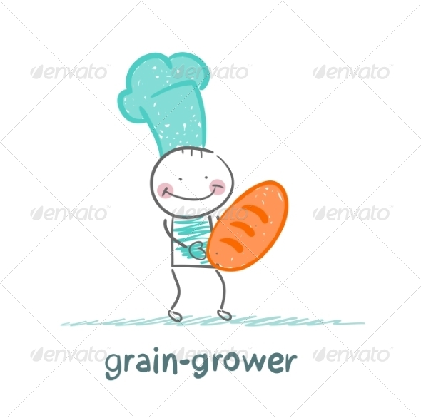 GraphicRiver Grain Grower Keeps the Bread with the Cook 6899228