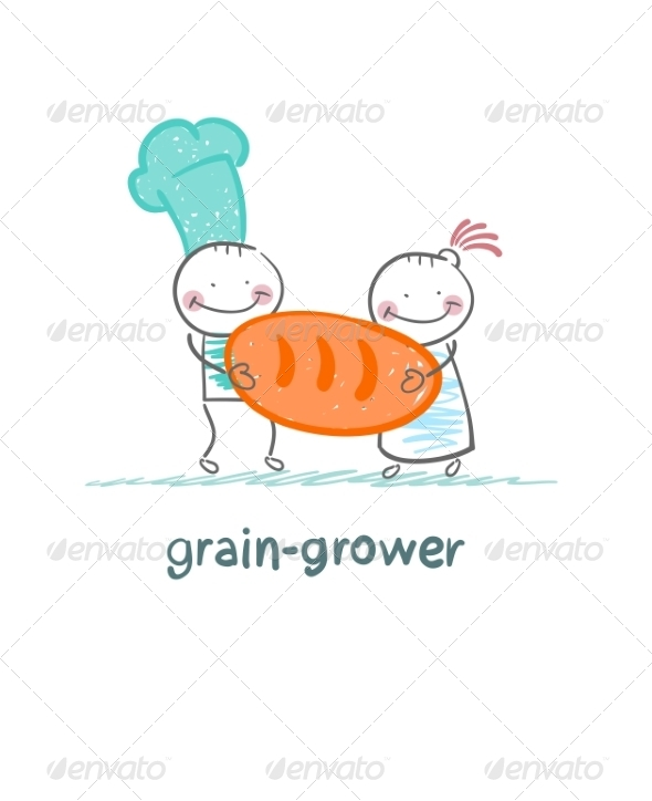 GraphicRiver Grain Growers Hold Bread 6899235