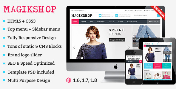 Shop Responsive Magento Theme - Shopping Magento
