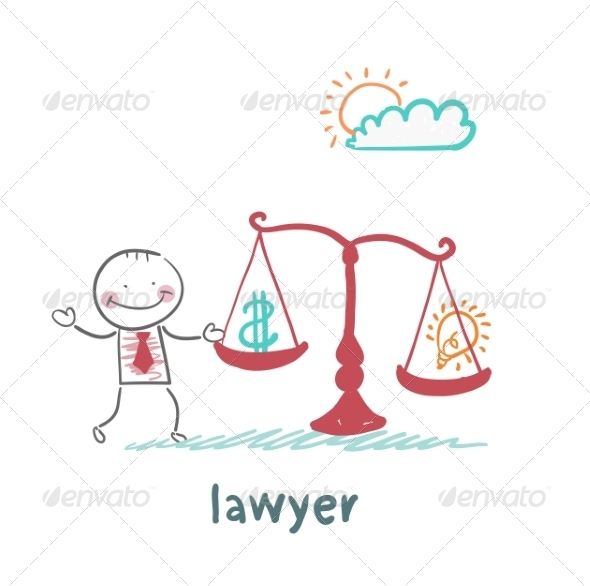 GraphicRiver Attorney Weighs in the Balance 6899272