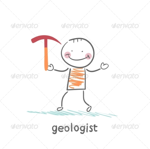 GraphicRiver Geologists Holding a Hammer 6899274