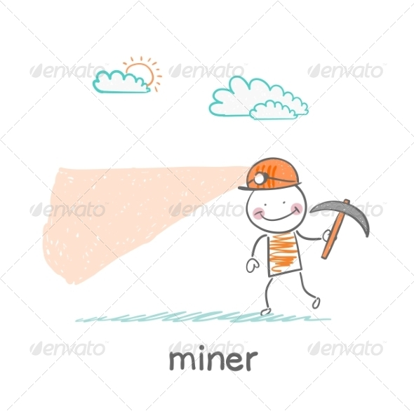 GraphicRiver Miner Looking 6899338