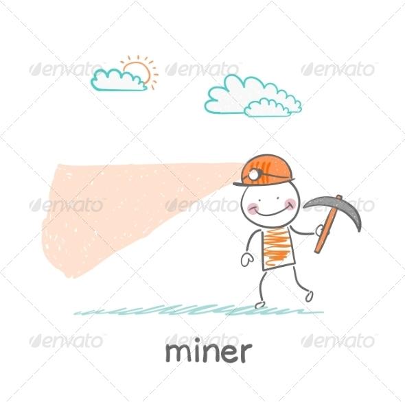 Miner Looking