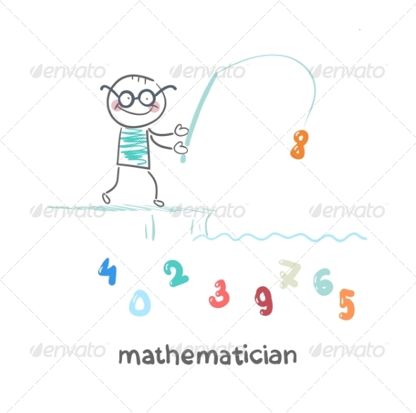 GraphicRiver Mathematician Catches Number on Fishing Pole 6899344