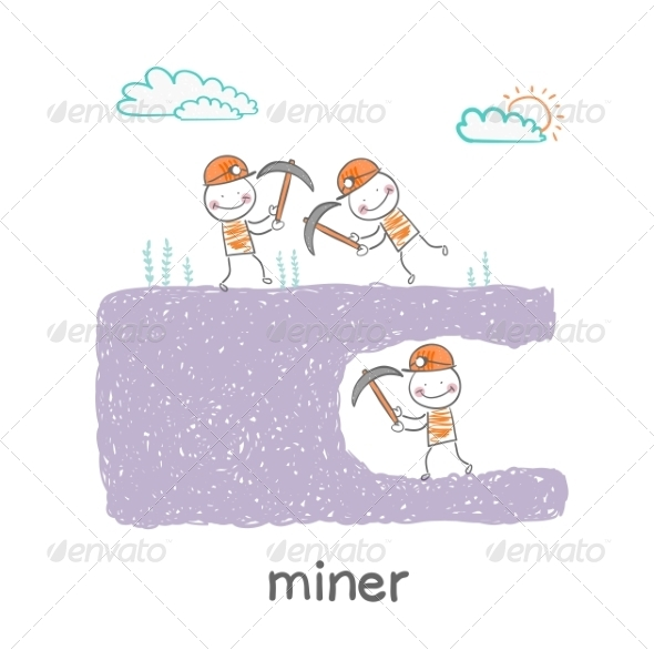 GraphicRiver Miners Digging 6899366
