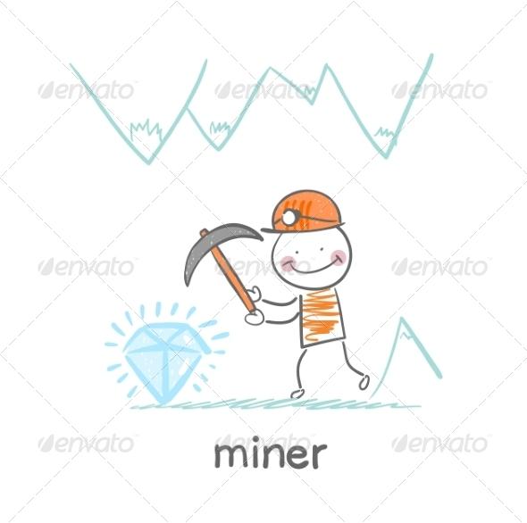 GraphicRiver Miner Found a Gem 6899404
