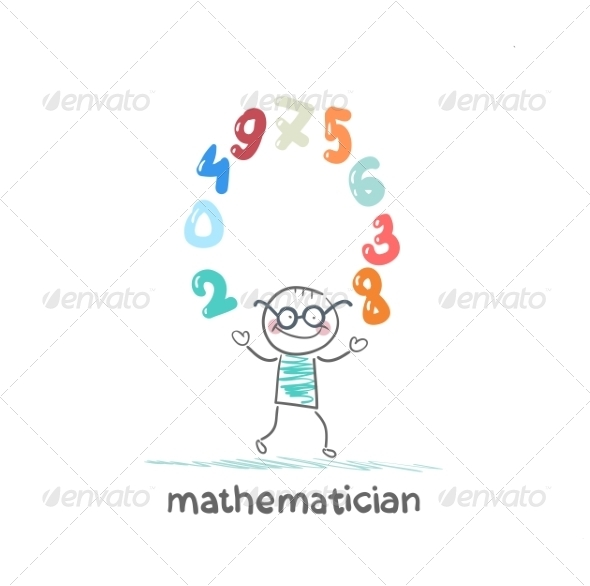 GraphicRiver Mathematician Juggles Figures 6899415