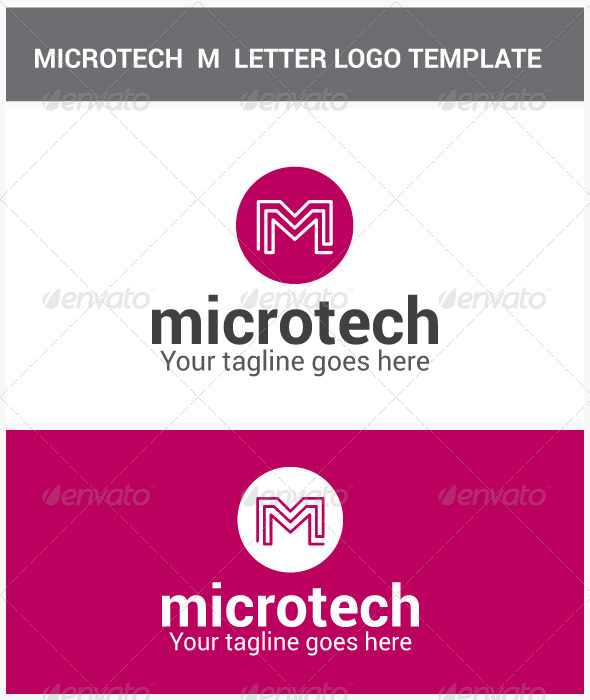 GraphicRiver Microtech M Letter Logo 6899426