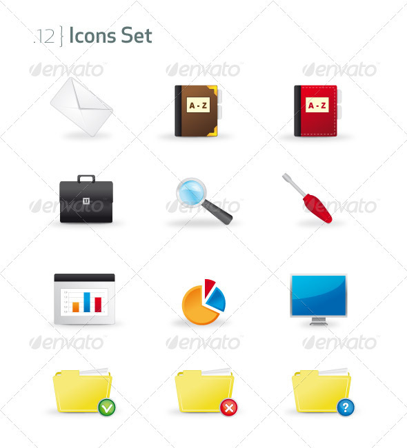 GraphicRiver Business & Office Icons Set 721579