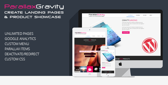 CodeCanyon Parallax Gravity Landing Page Builder 6899707