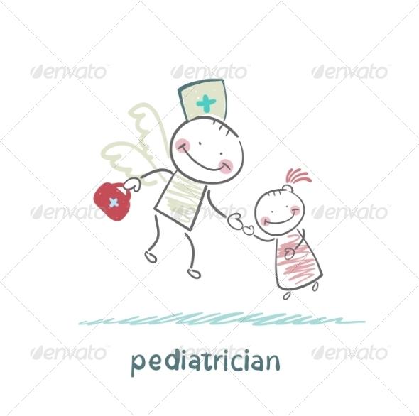 GraphicRiver Pediatrician Flies to a Sick Child 6899732