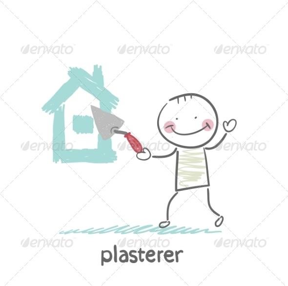 GraphicRiver Plasterer Paints Cement House 6899739