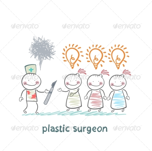 GraphicRiver Plastic Surgeon Holding a Scalpel 6899741