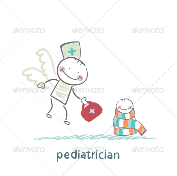 GraphicRiver Pediatrician Flies to a Sick Child 6899742