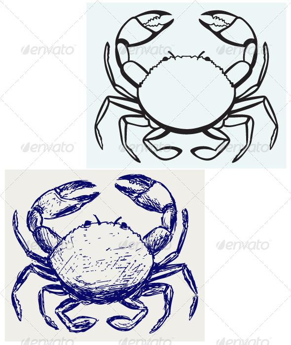 GraphicRiver Silhouette Crab 6899747