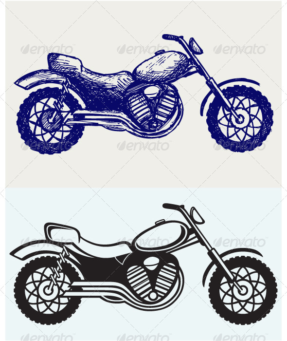 GraphicRiver Classic Motorcycle 6899850
