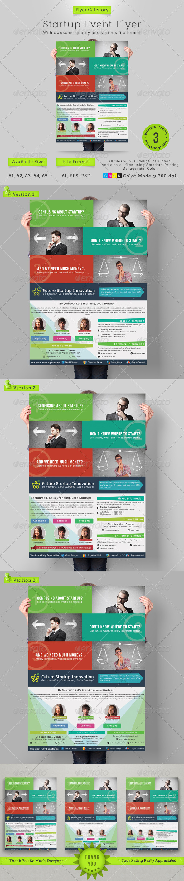 GraphicRiver Startup Event Flyer 6887607