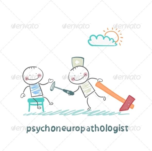 GraphicRiver Psychoneuropathologist Checks the Patient s Nerves 6900092