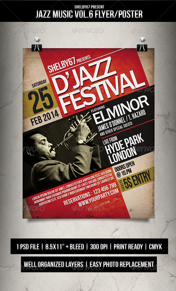 Jazz Music Flyer / Poster Vol.6 - Events Flyers