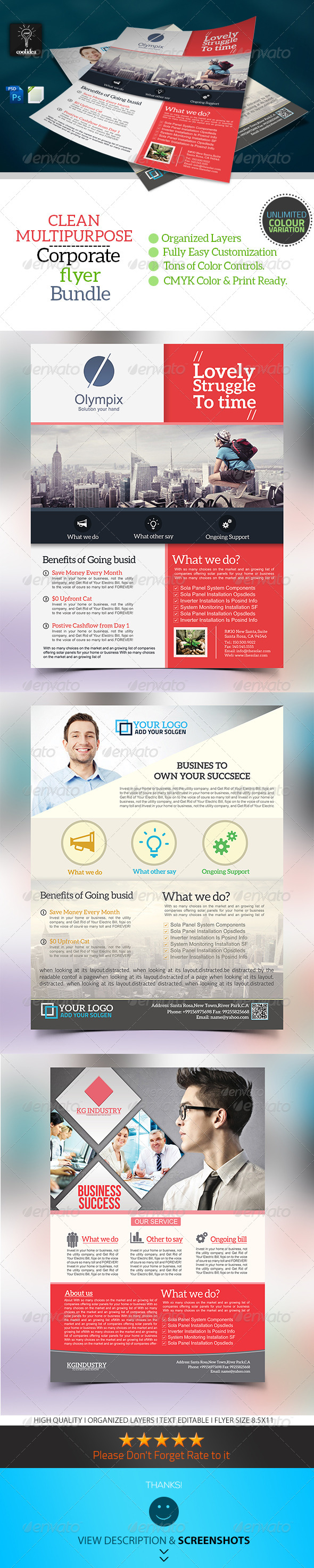 GraphicRiver Corporate Flyer Bundle Vol 01 6900533