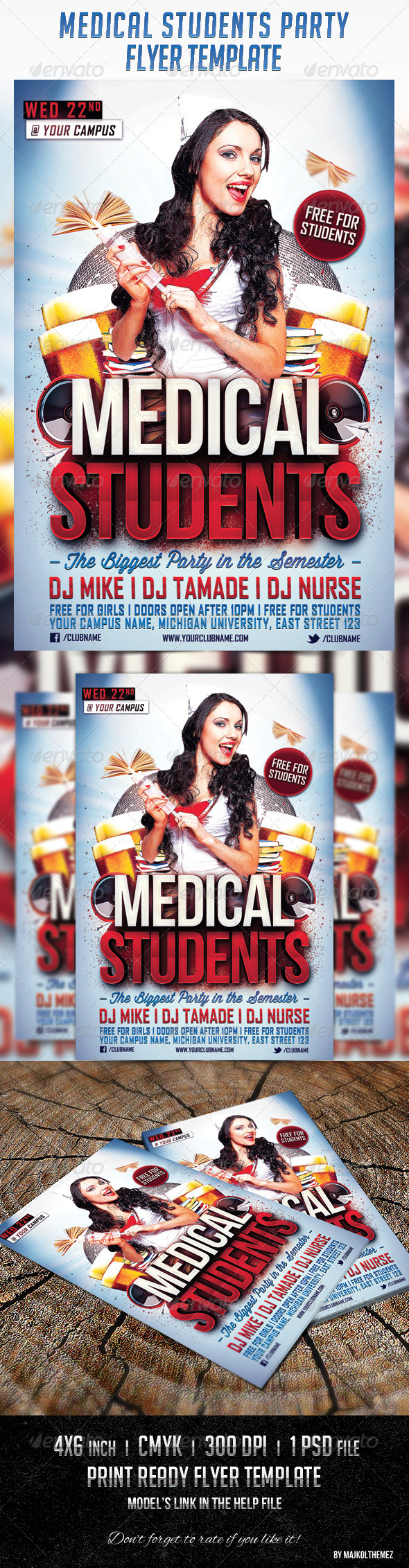 Medical Students Party - Events Flyers