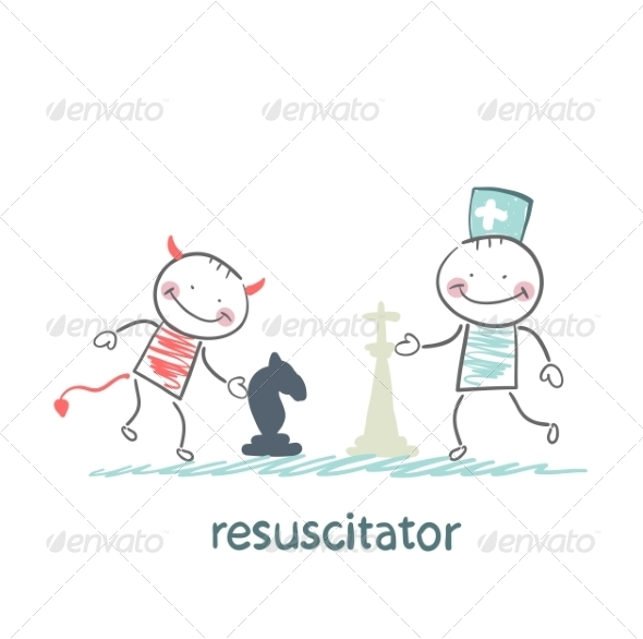 GraphicRiver Resuscitator Plays Chess with the Devil 6900747
