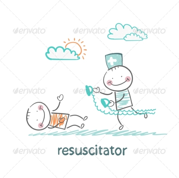 GraphicRiver Resuscitation in a Hurry to Sick Patient 6900753