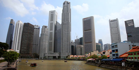 VideoHive Singapore River Timelapse 6900759