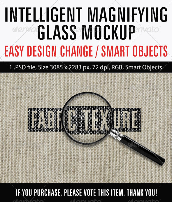 GraphicRiver Intelligent Magnifying Glass Mockup 6895662