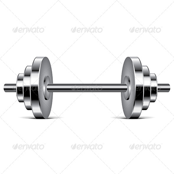 GraphicRiver Metal Dumbbell 6901045
