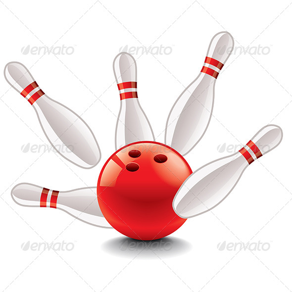 GraphicRiver Bowling Ball and Pins Vector Illustration 6901063